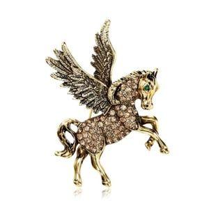Jewelry - 3/$18~Crystal Pegasus Brooch